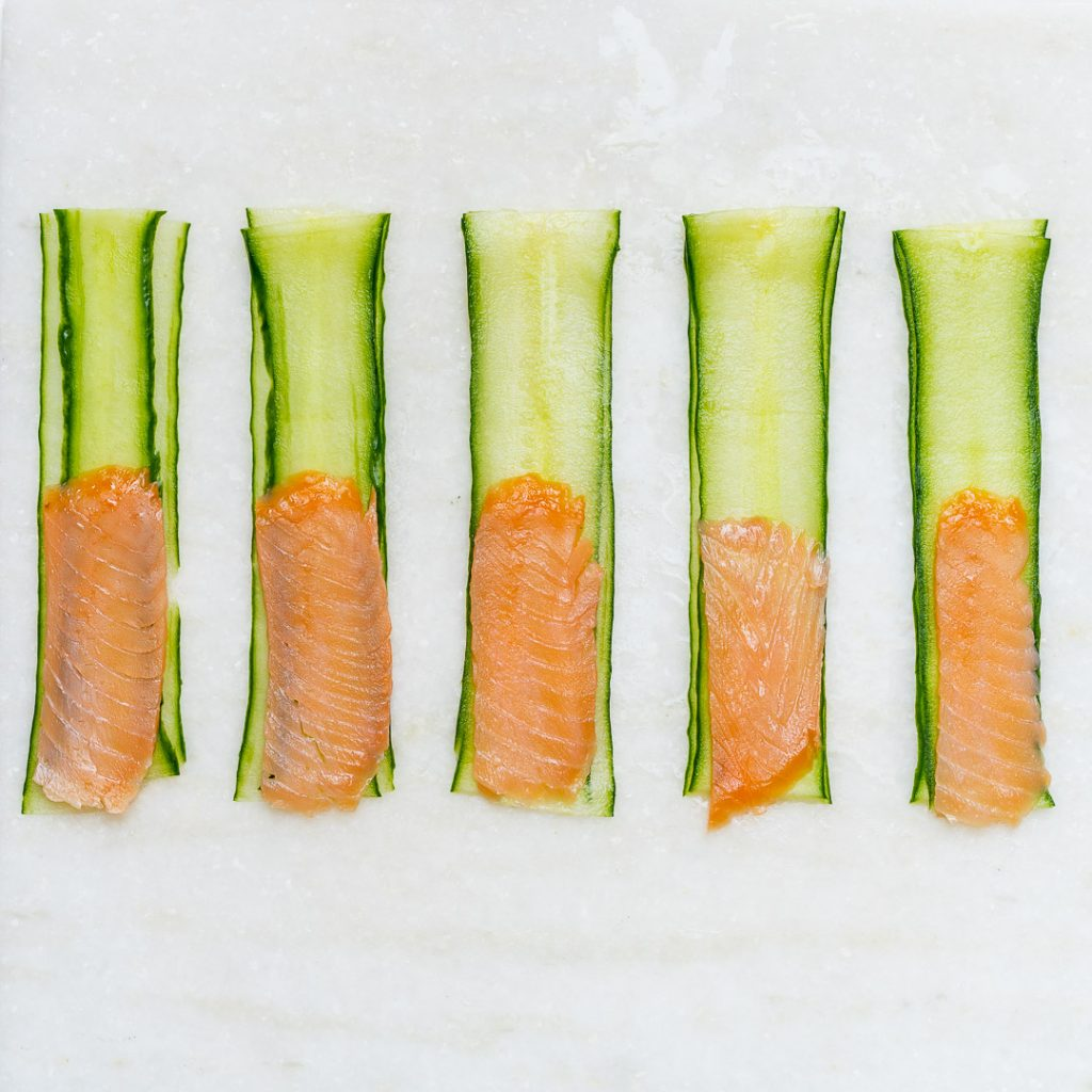 Smoked Salmon Cucumber Rolls Meal Prep