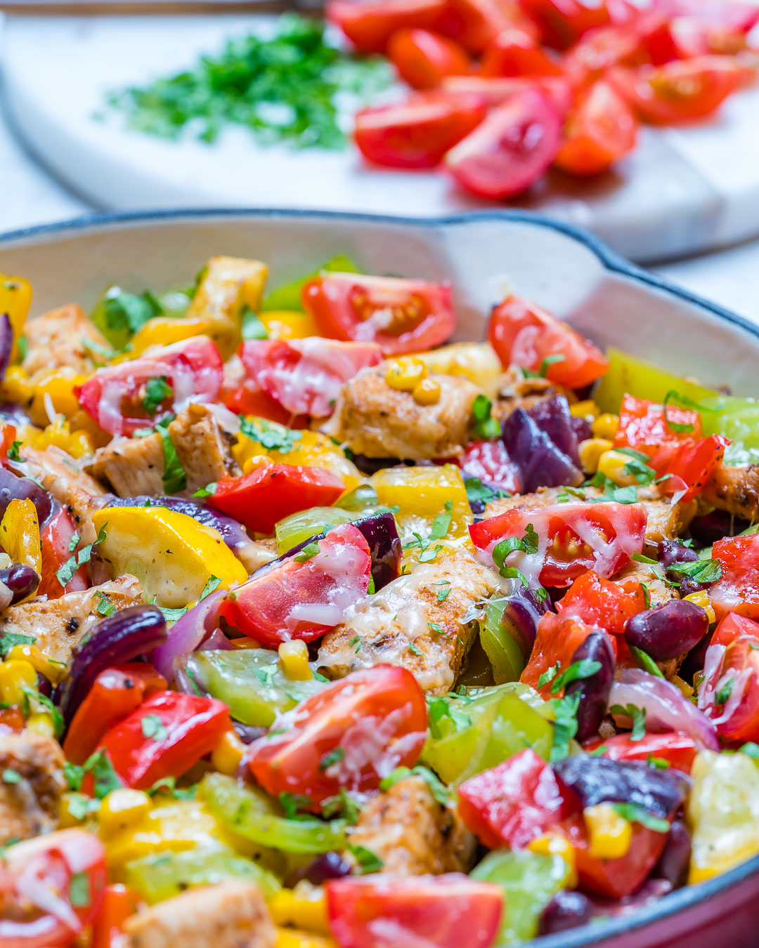 Tex Mex Zucchini Chicken Skillet Recipe
