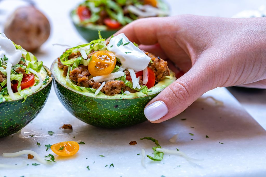 Clean Turkey Taco Stuffed Avocados