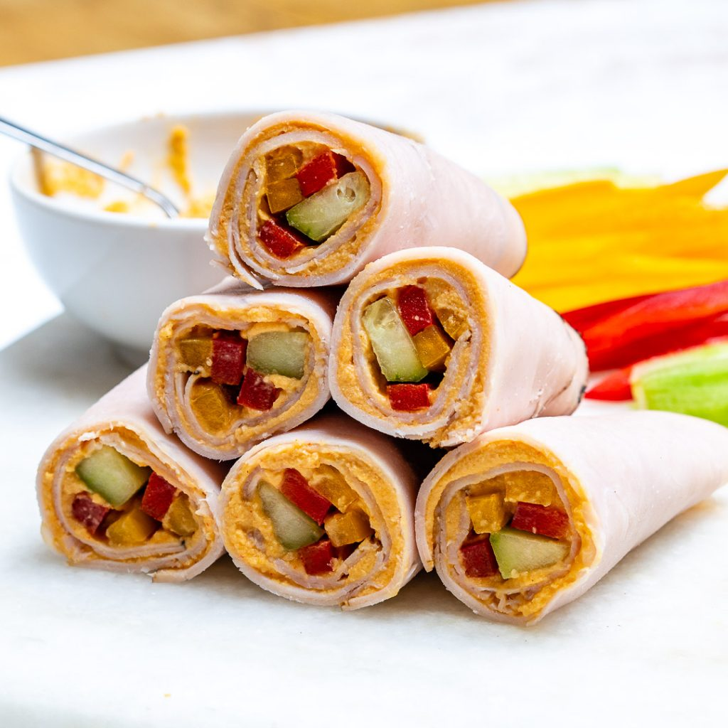 Clean Turkey Veggie Hummus Wraps Recipes