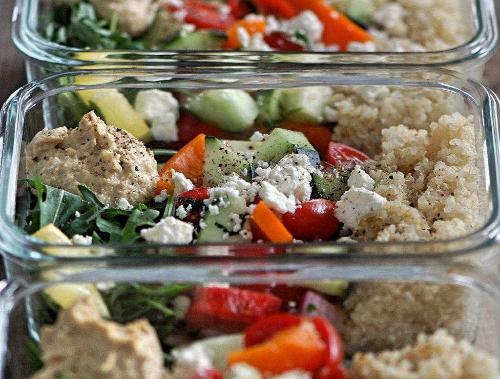 Mediterranean Hummus Prep Salads Recipe