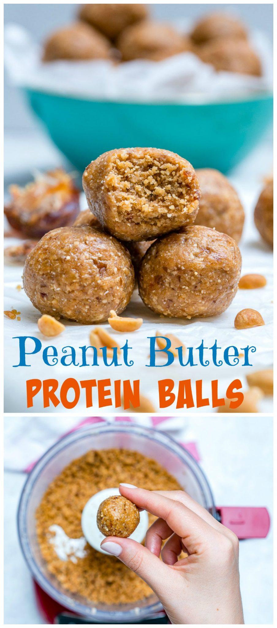 CleanFoodCrush Peanut Butter Protein Balls