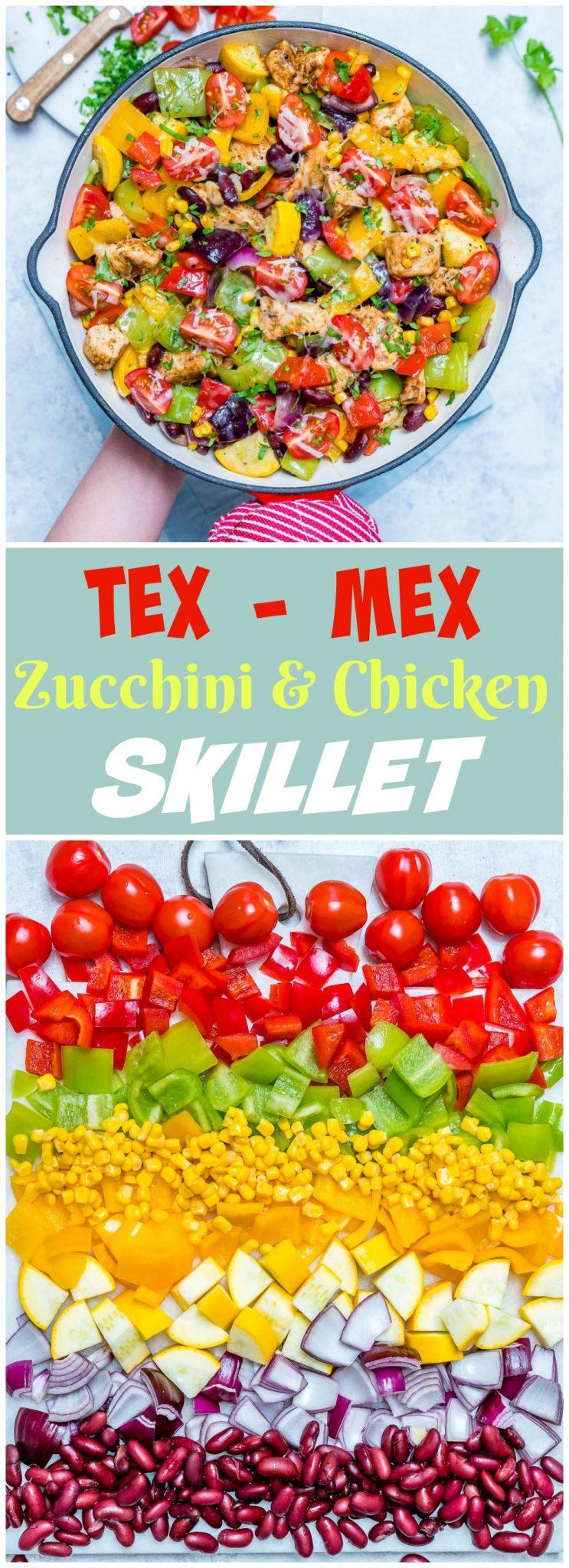 CleanFoodCrush Tex Mex Zucchini Chicken Skillet
