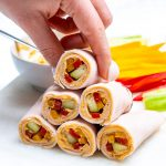 CleanFoodCrush Turkey + Veggie + Hummus Wraps