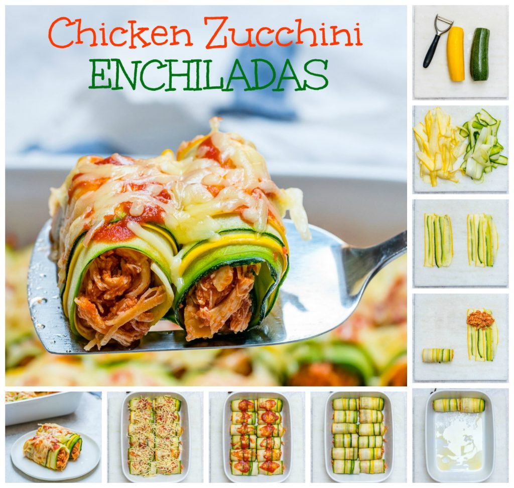 CleanFoodCrush Zucchini Chicken Enchilada Roll-Ups