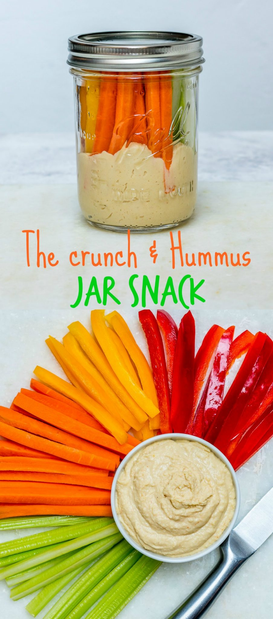 Crunch Hummus Snack time Jar