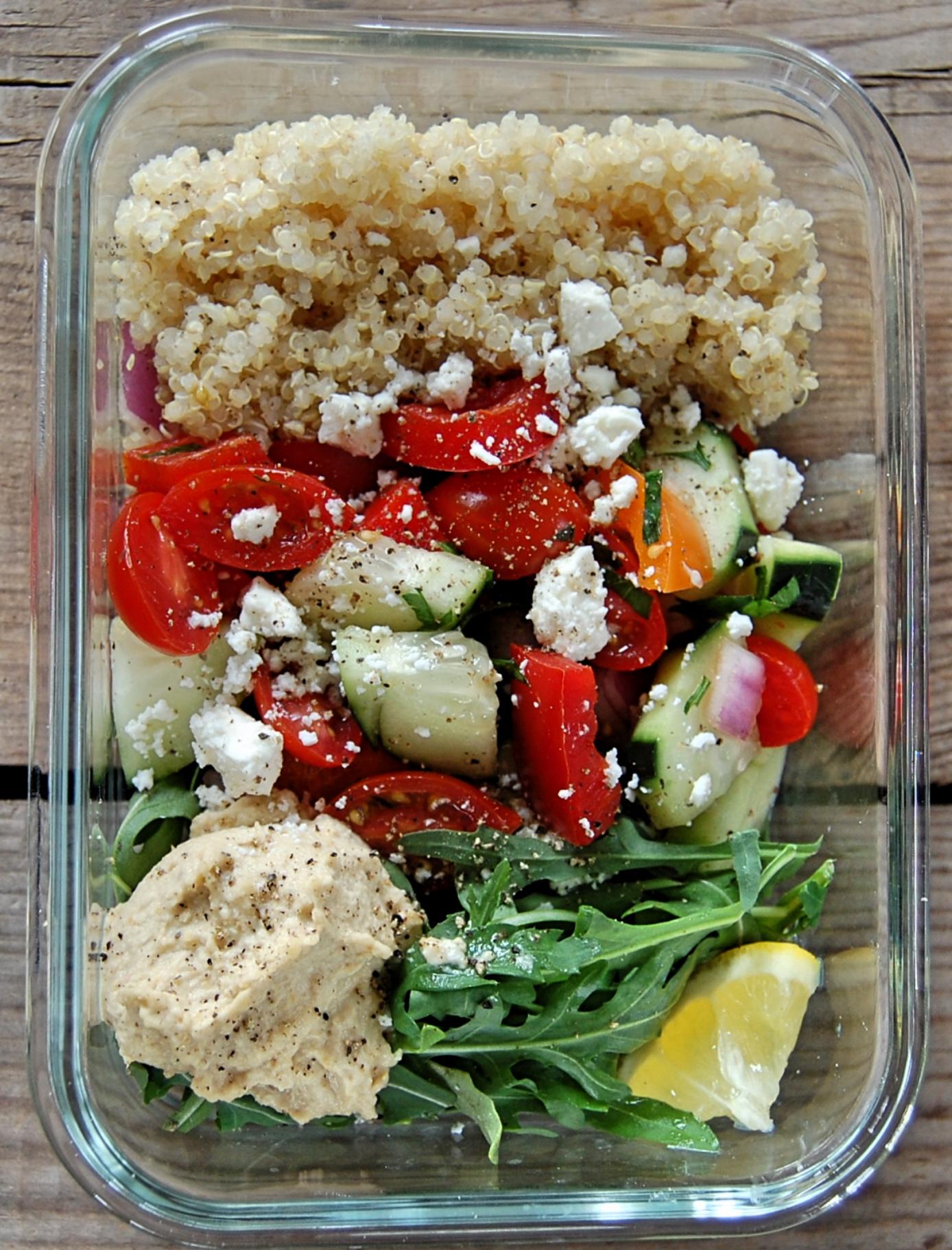 Eat Clean Mediterranean Hummus Salad
