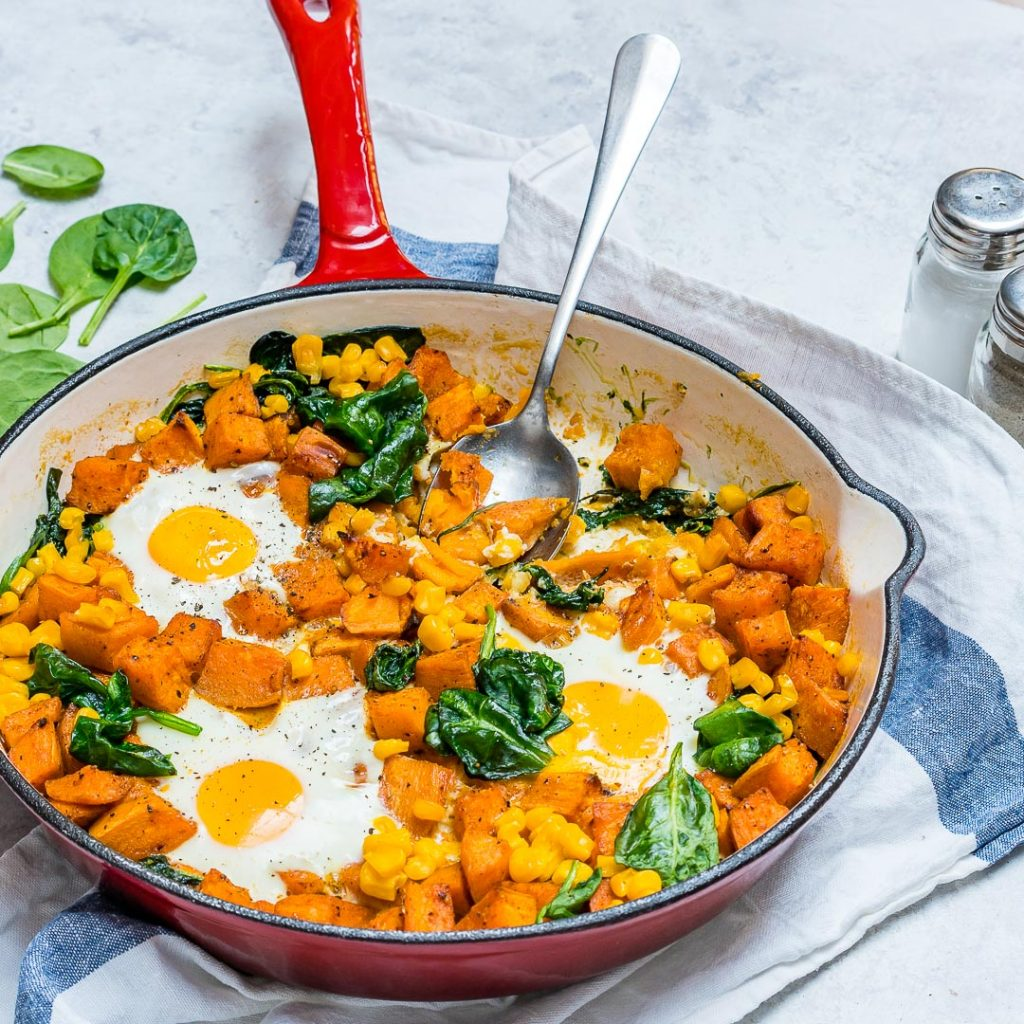 Eat Clean Sweet Potato N' Egg Skillet