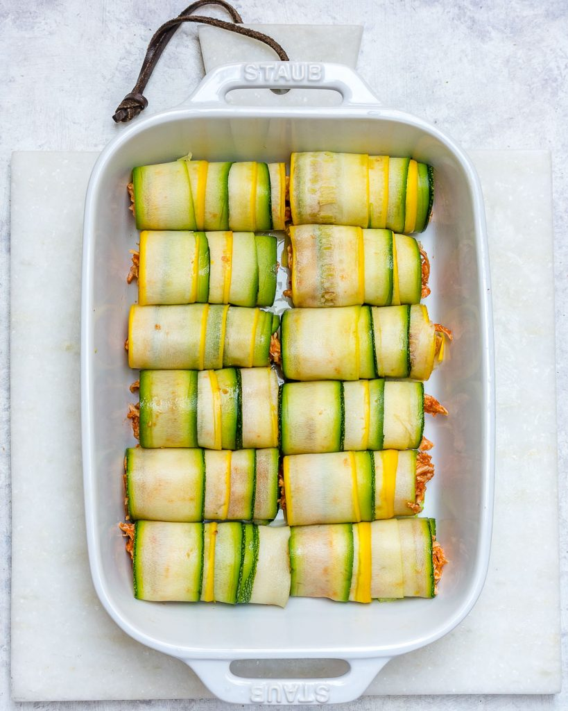 Zucchini Chicken Enchilada Roll-Ups Eat Clean