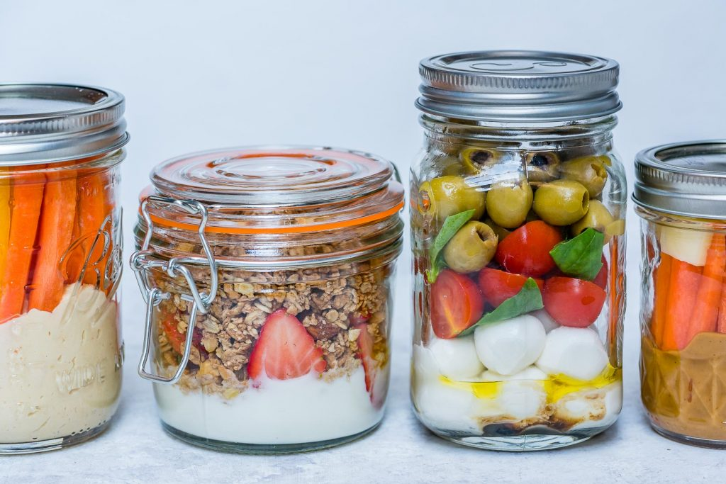 Mason Jar Snacks 4-Ways by CleanFoodCrush Recipes
