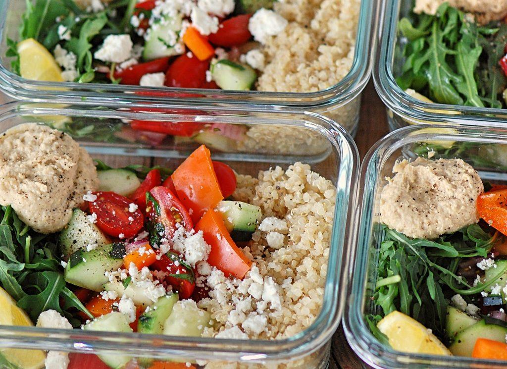 Mediterranean Hummus Prep Salads