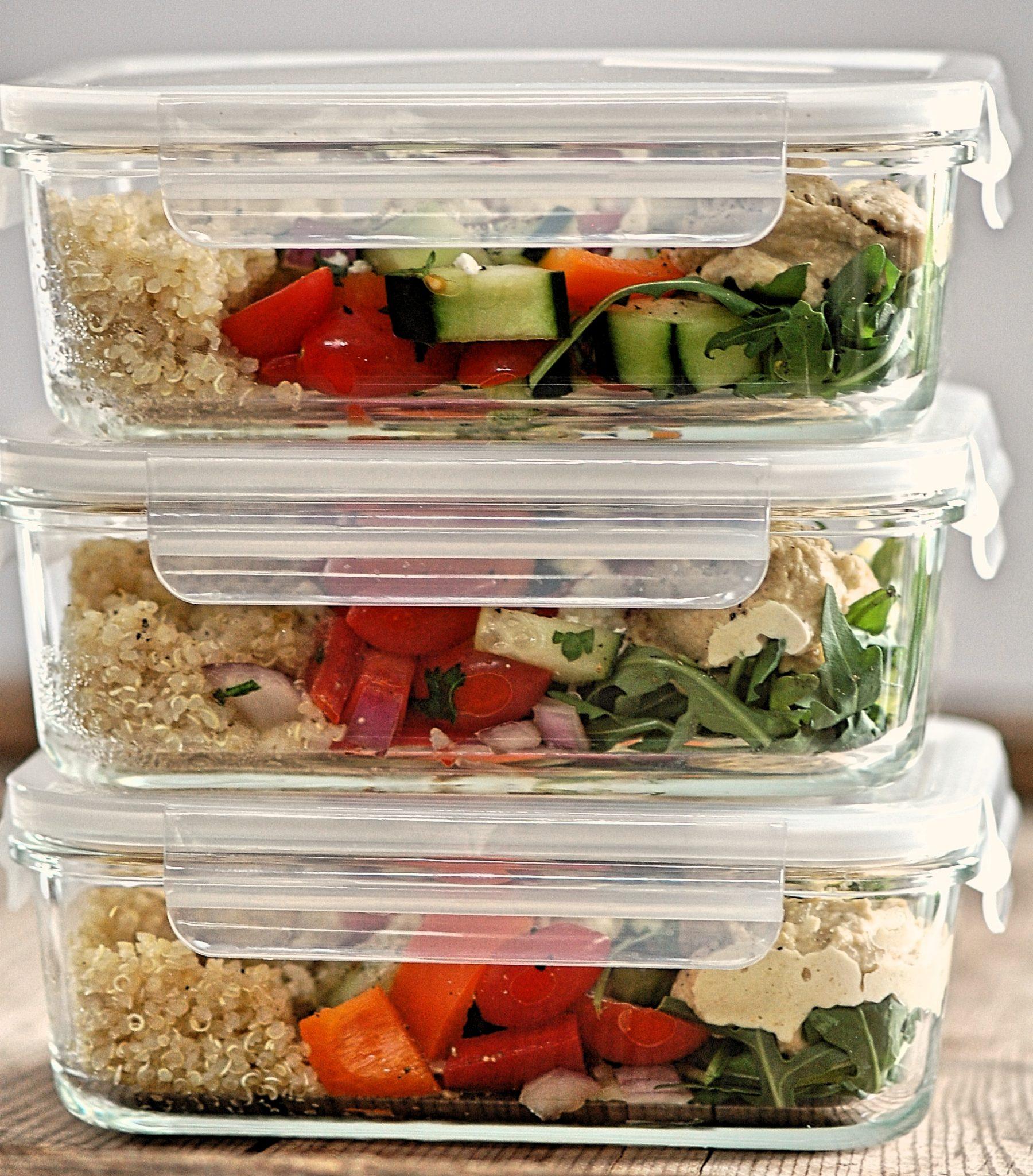 Mediterranean Hummus Salad Dish