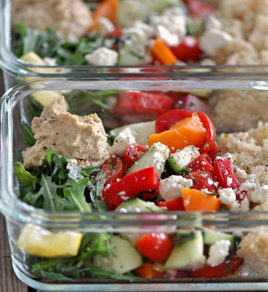 Mediterranean Hummus Healthy Salad