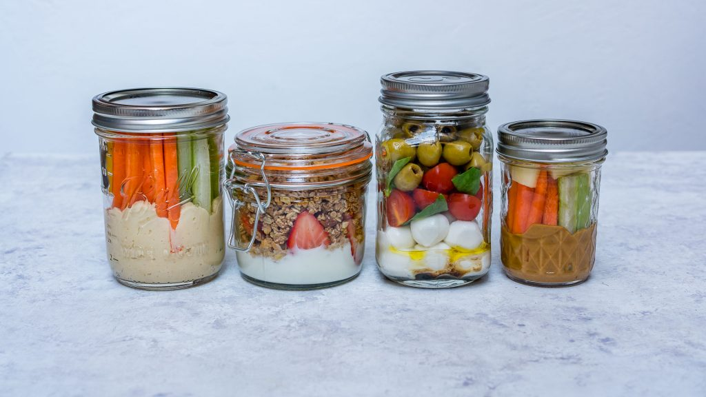 Clean Prep Mason Jar Snacks 4-Ways