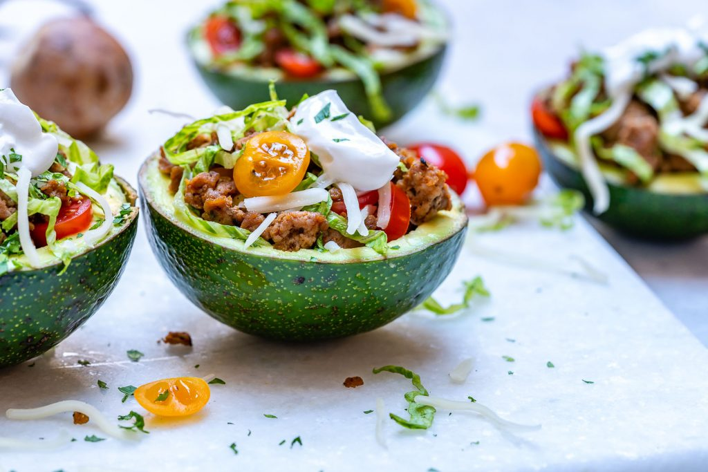Turkey Taco Stuffed Avocados Dinner Recipe