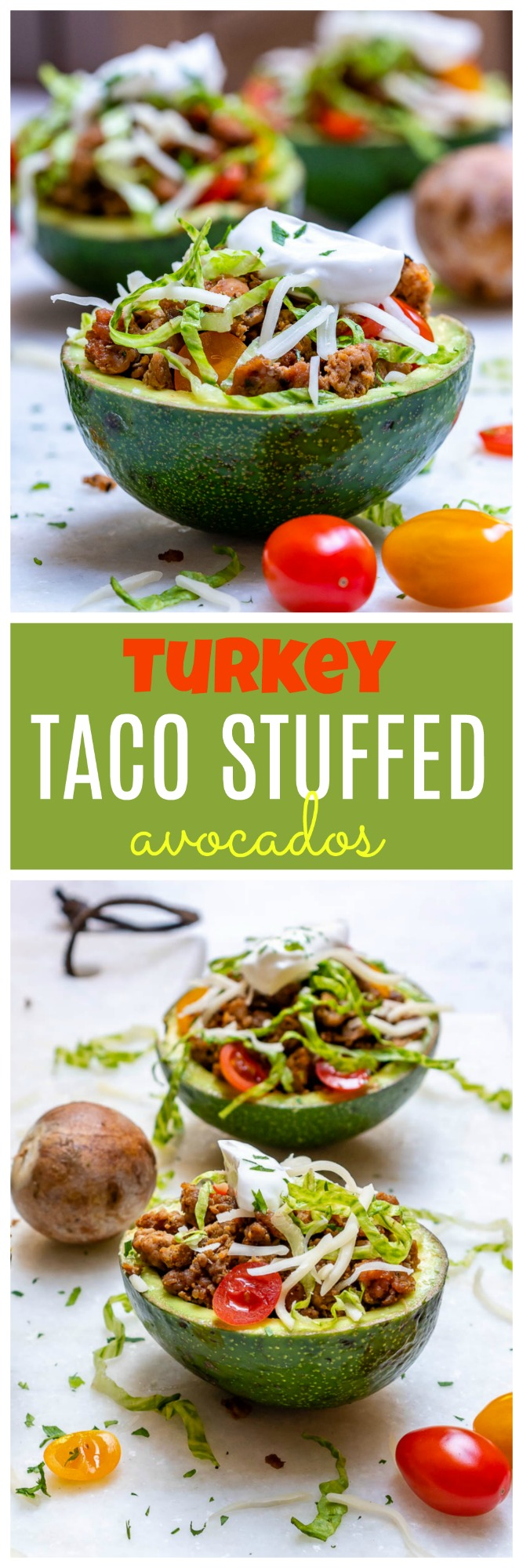 Turkey Taco Stuffed Avocados