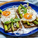 Clean Asparagus Egg Toast Breakfast Recipe