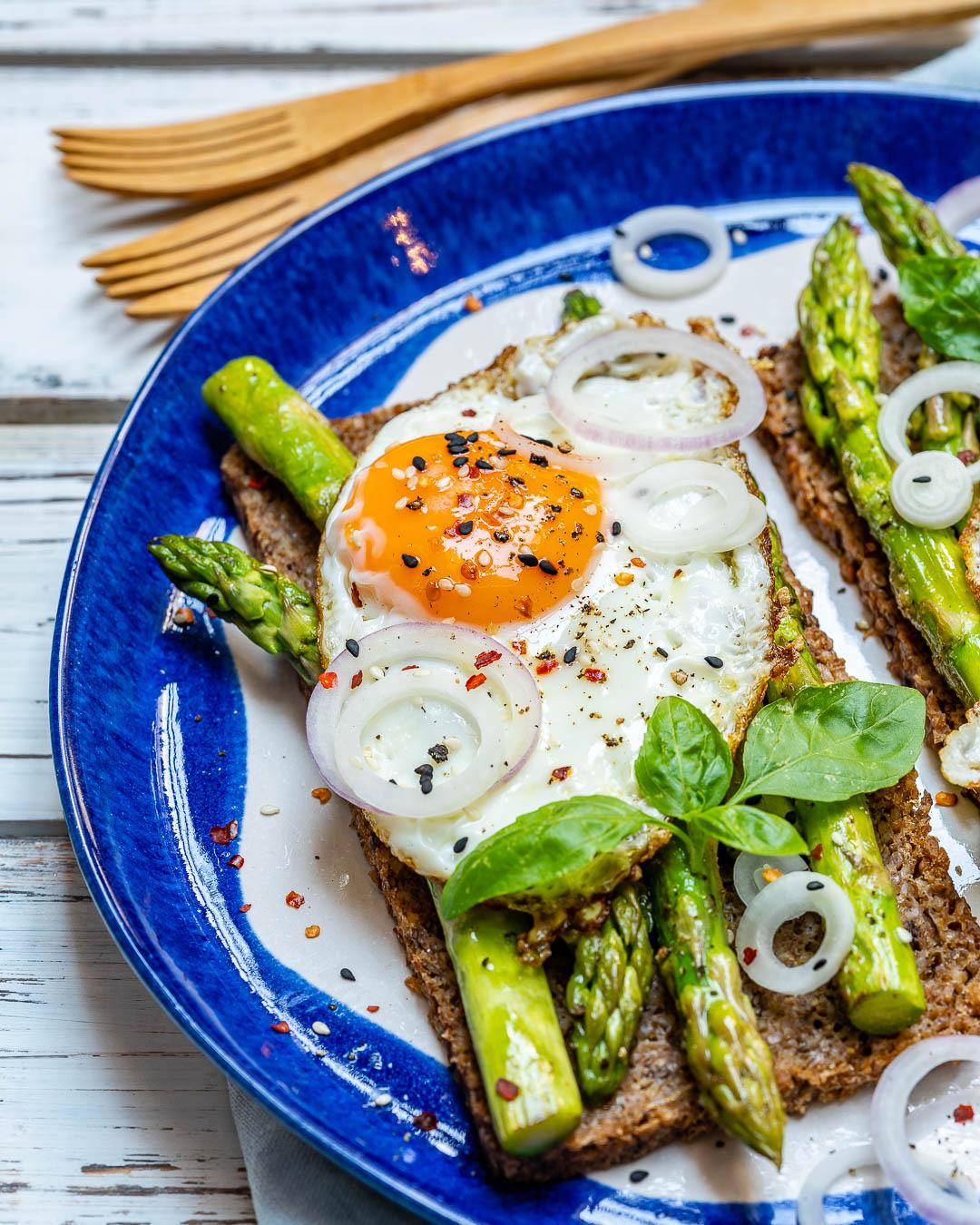 Asparagus Egg Toast Healthy Breakfast Ideas