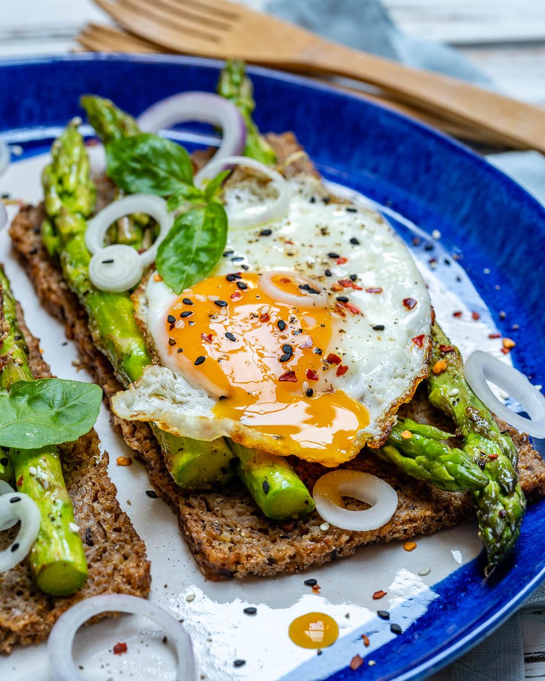 Clean Eating Asparagus Egg Toast Easy Recipes