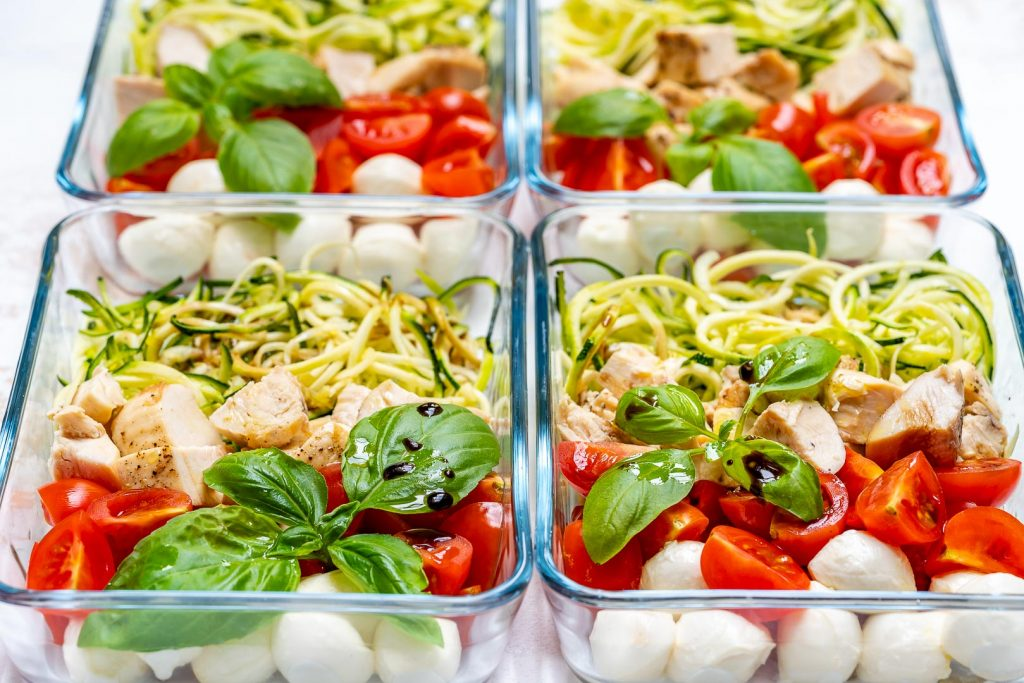 Clean Eating Caprese Chicken Zoodles