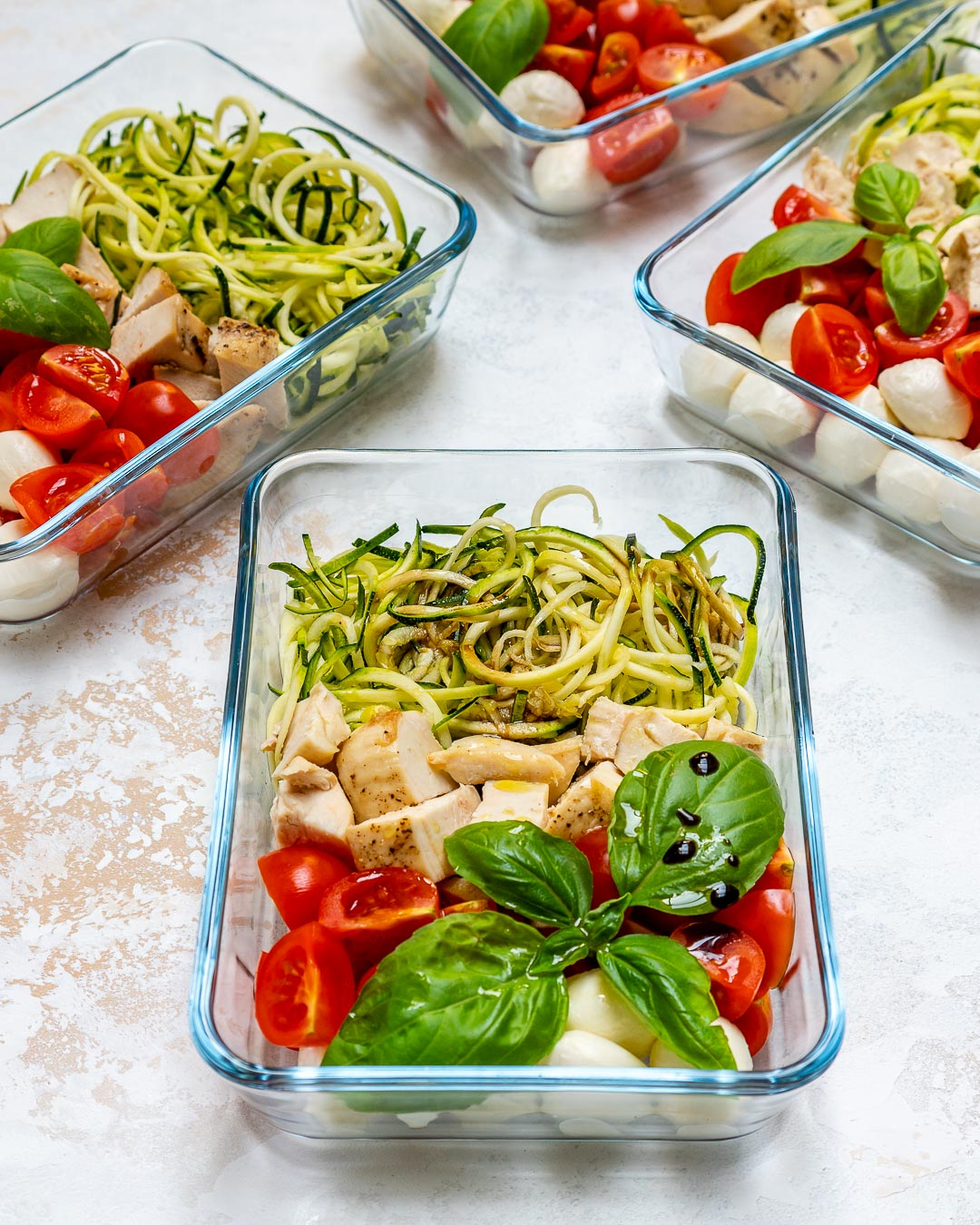 Healthy Caprese Chicken Zoodles