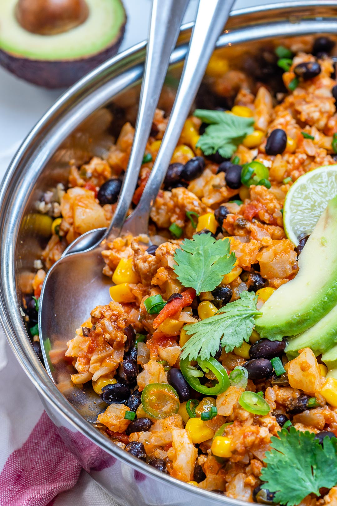 Clean Eating Taco Cauliflower Rice