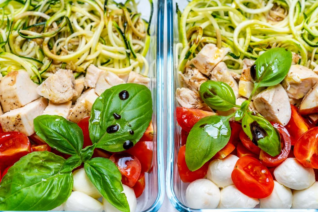 Eat Clean Caprese Chicken Zoodles