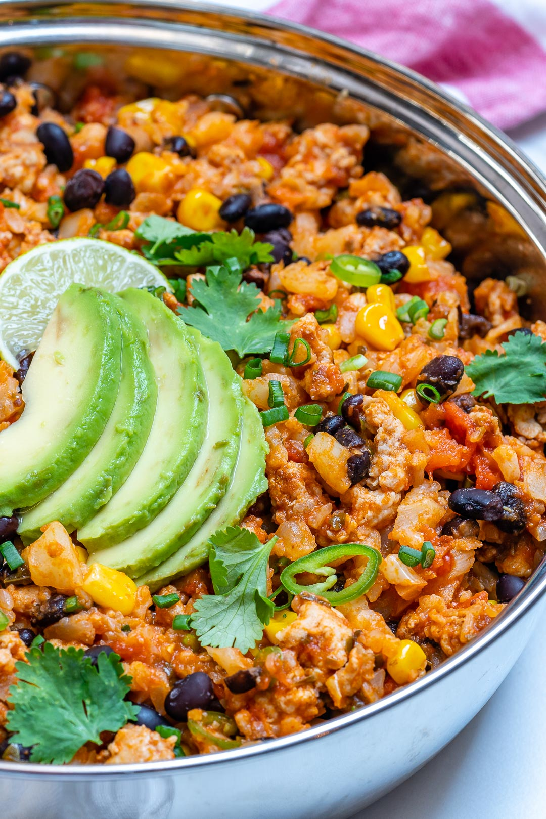 Flavorful Taco Cauliflower Rice Skillet