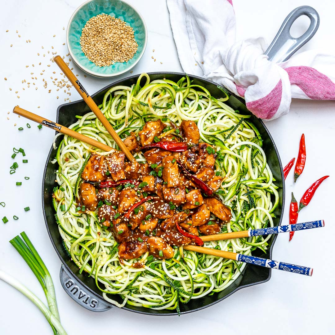 Clean Kung Pao Chicken Zoodles Recipe