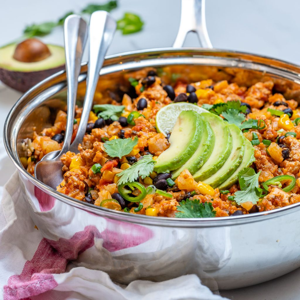 Clean Taco Cauliflower Rice Skillet Recipes