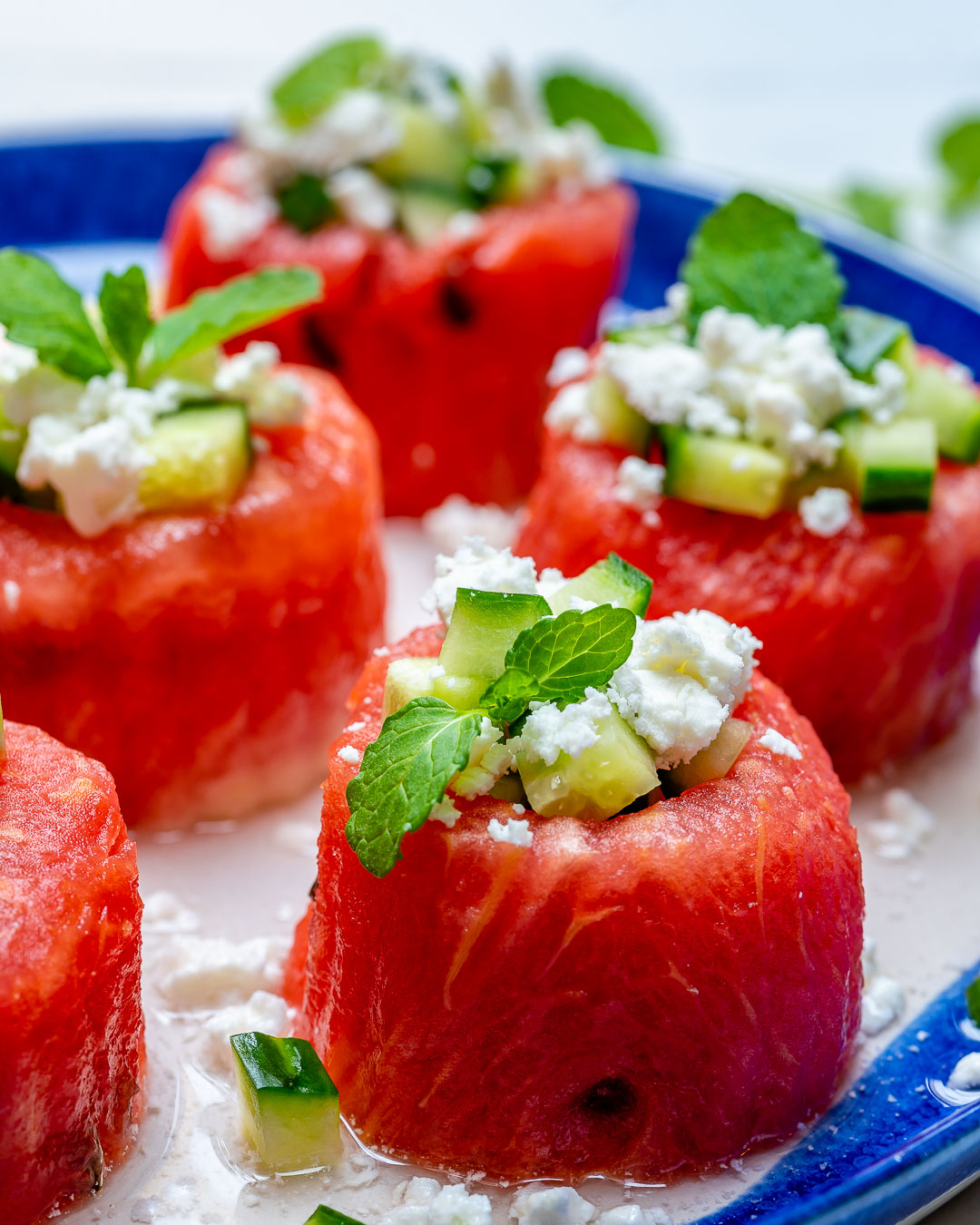 Juicy Watermelon Feta Cucumber Cups Snacks