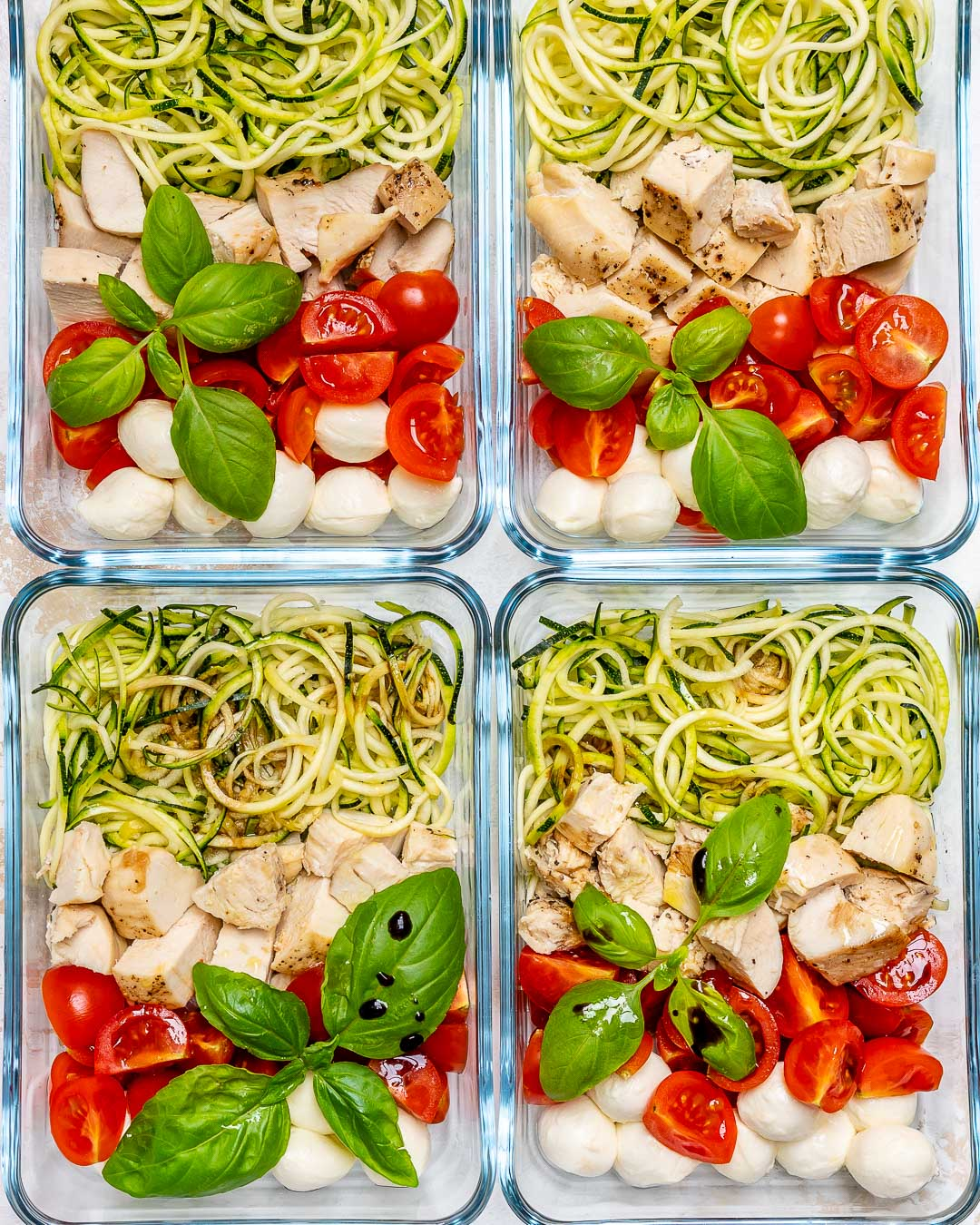 Caprese Chicken Zoodles Dish