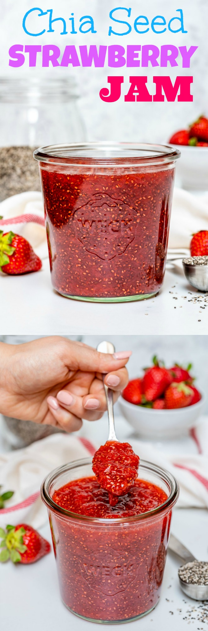 Chia Seed Strawberry Jam Breakfast Snack