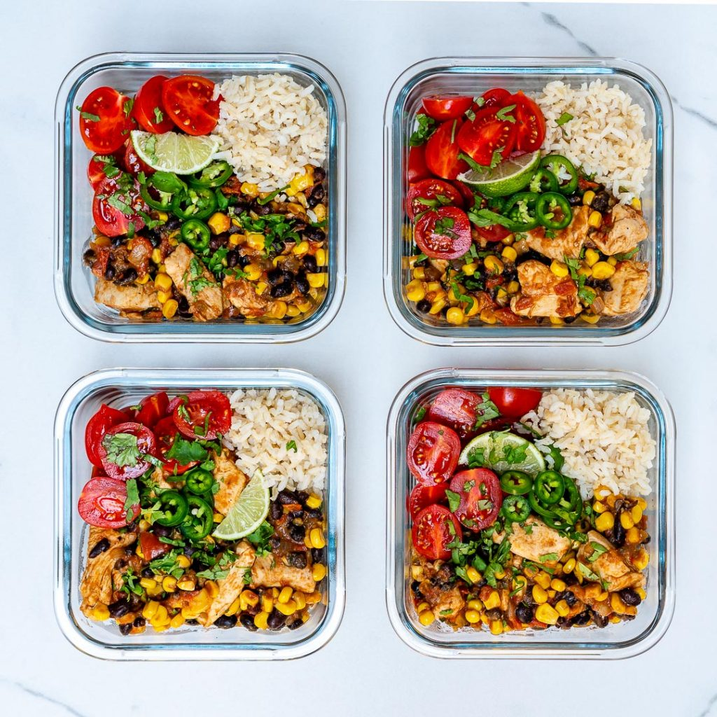 Mexi-Texi Chicken YUM Bowls Meal Prep