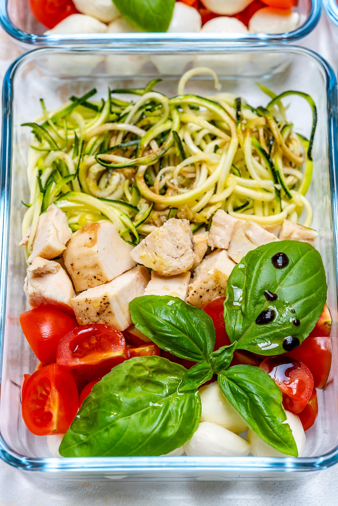 Caprese Chicken Zoodles Lunch Food Prep