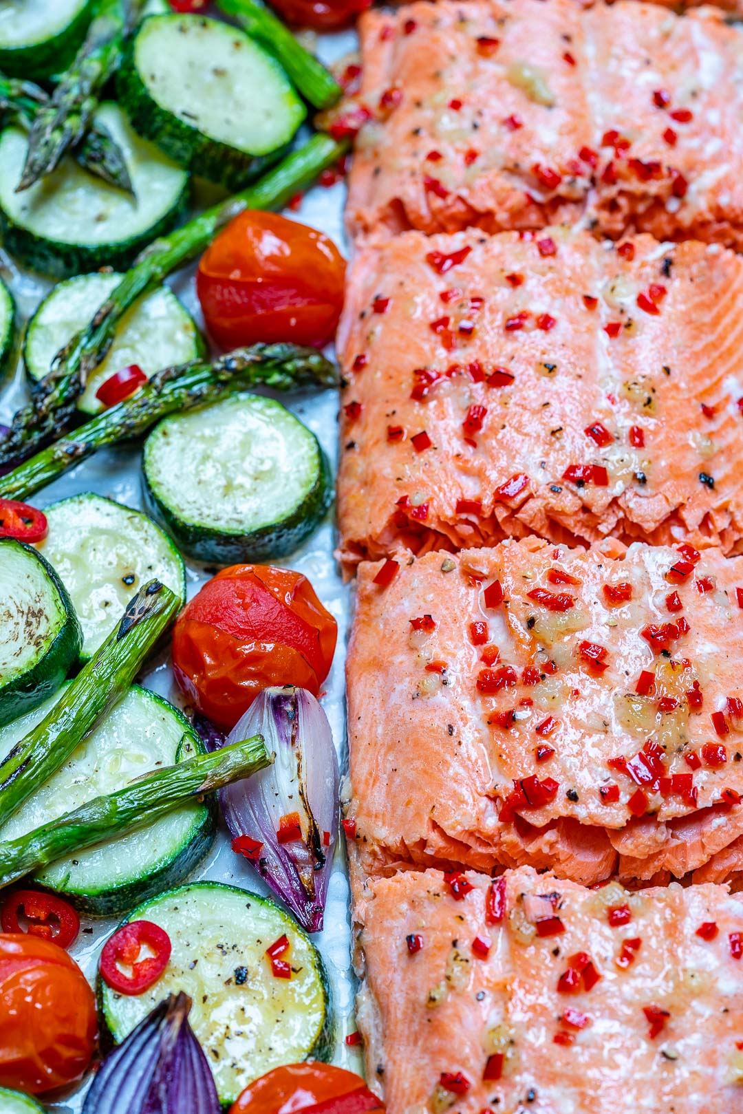 Sheet Pan Chili Lime Salmon Meal Prep