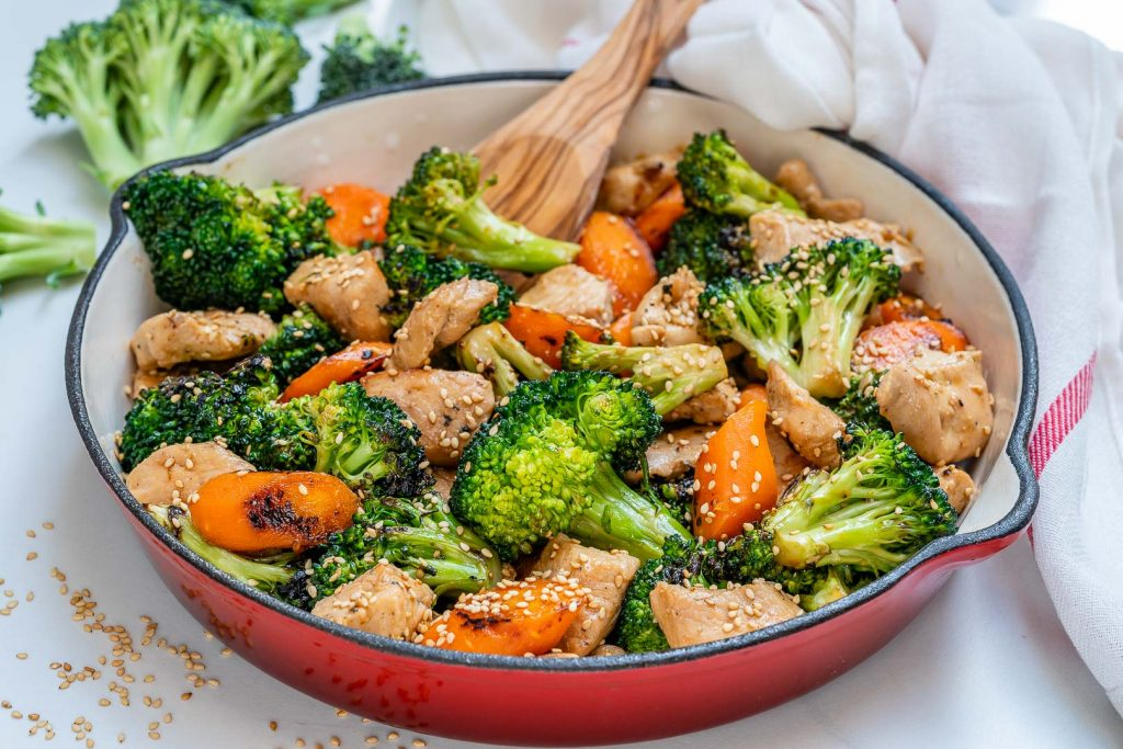 Eat Clean Teriyaki Chicken Veggie Skillet
