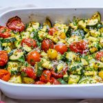 Clean Garlicky Parmesan Zucchini Bake Recipe