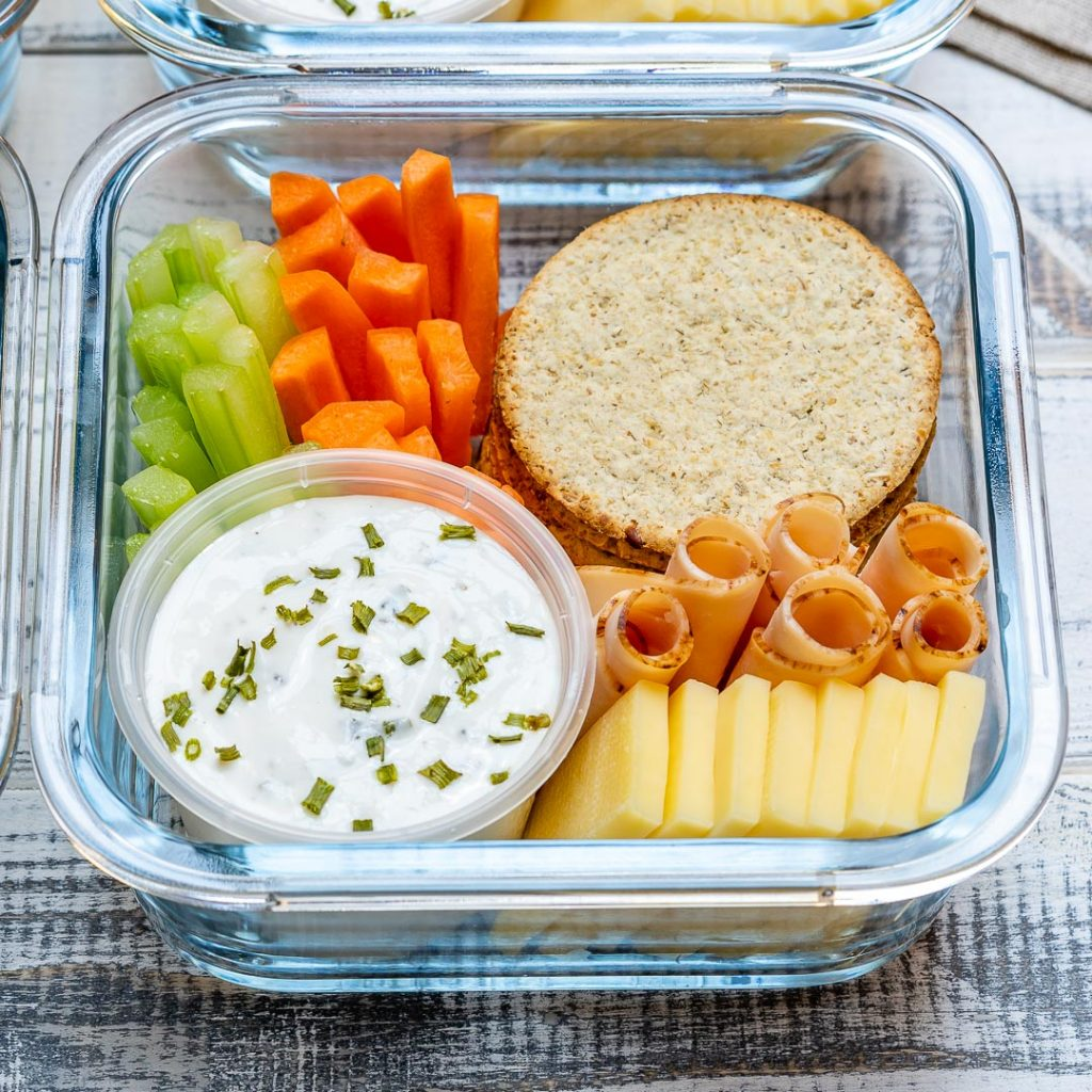 Healthy Eating Homemade Ranch Delight Bento Boxes