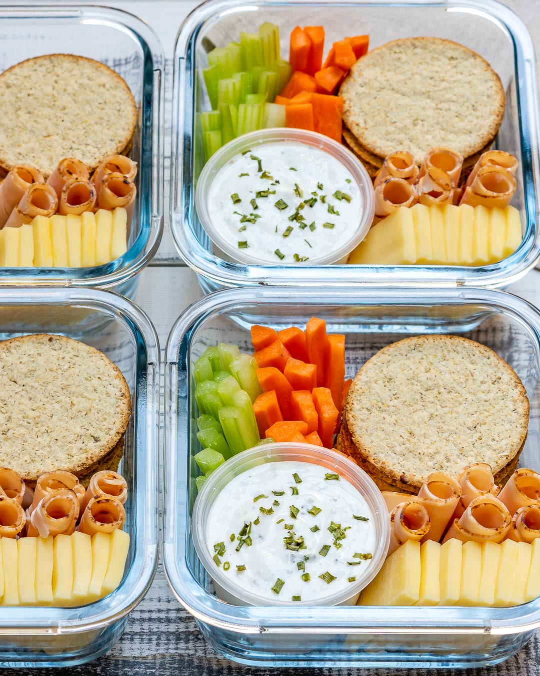 Homemade Ranch Bento Box Healthy Snacks