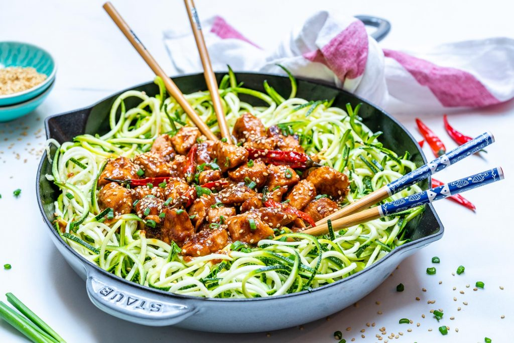 Kung Pao Chicken + Zoodles Recipes by CFC