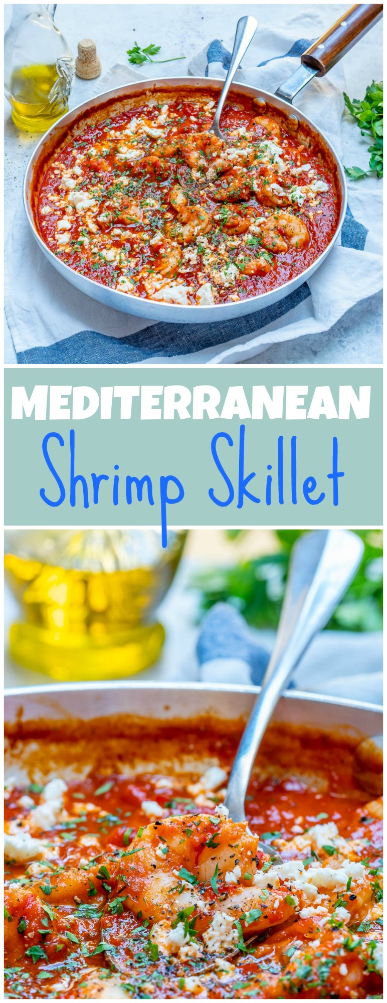 Clean eating diet Mediterranean Shrimp Skillet