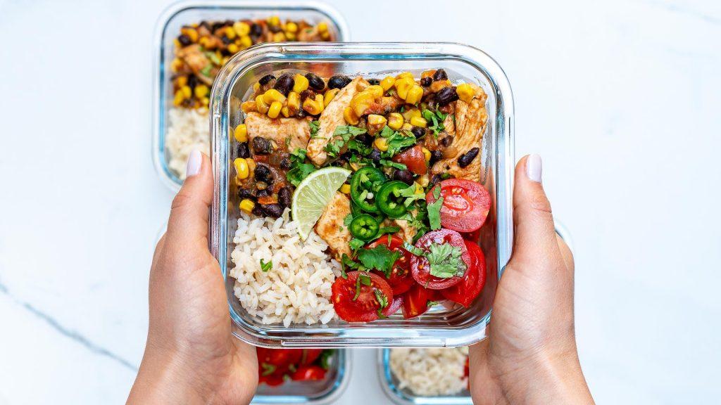 Mexi-Texi Chicken Food Prep Bowls