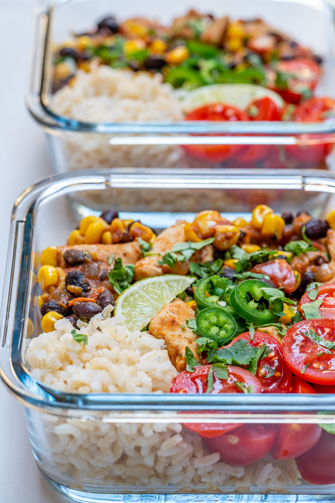 Mexi-Texi Chicken Clean Eating Diet Bowls