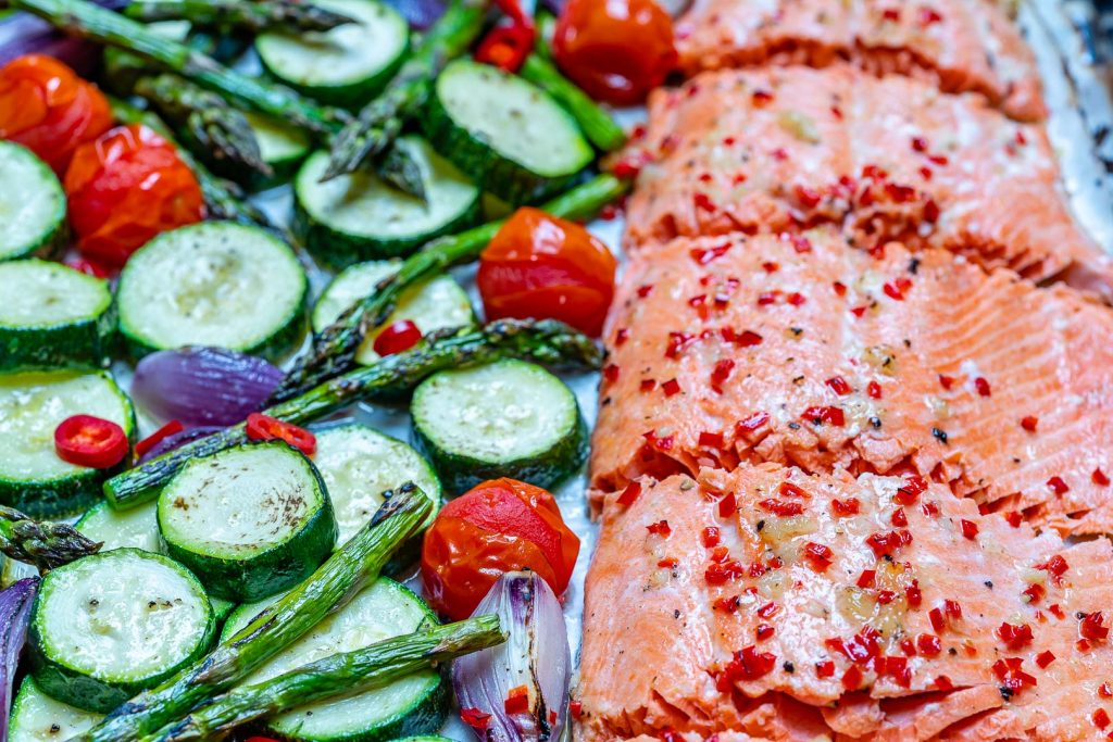 Sheet Pan Chili Lime Salmon Veggies Recipe