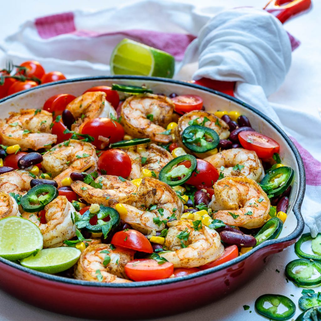 Shrimp Skillet with Fresh Ingredients