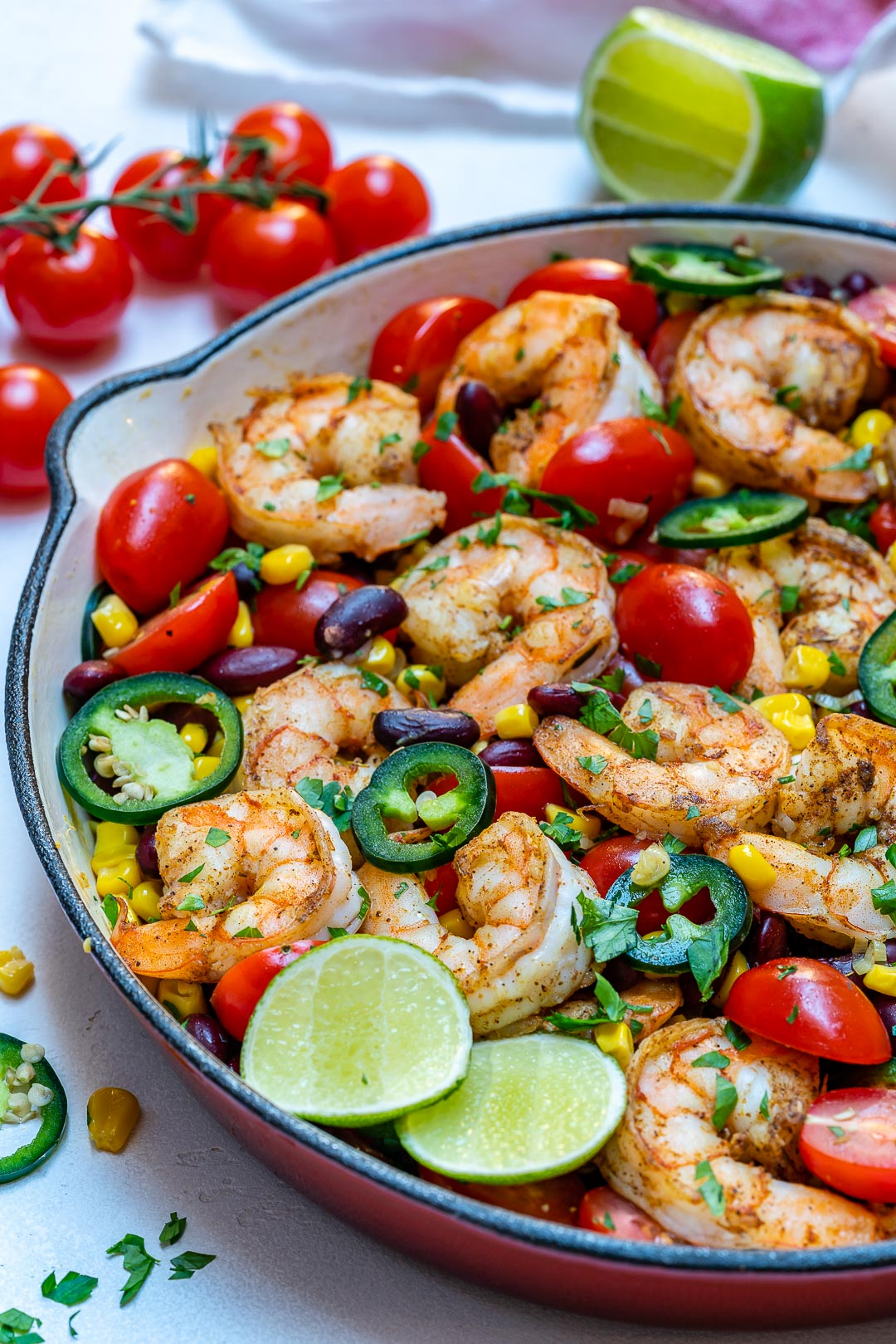 Healthy Spicy Shrimp Skillet