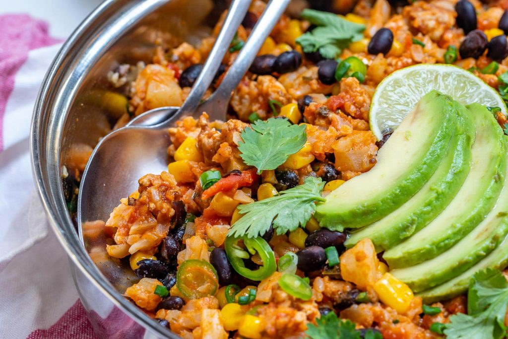 Taco Cauliflower Rice Skillet Meal Prep