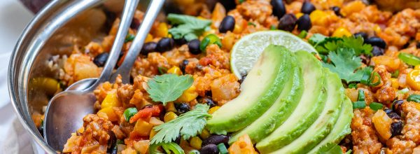 Taco Cauliflower Rice Skillet Recipe by CleanFoodCrush