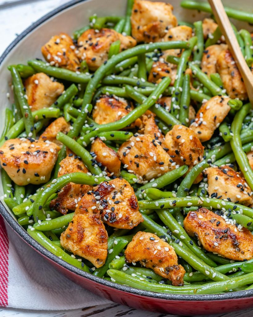 Simple Clean Eating Plan Chicken Green Bean Stir Fry